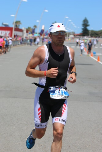 Charl on the run at Ironman 70.3